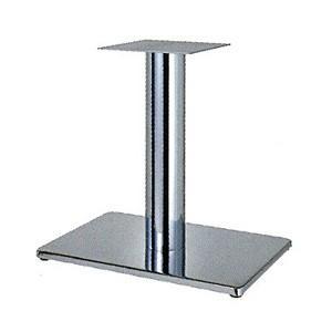 テーブル脚 ボンドS7550 ベース550x370 パイプ101.6φ 受座240x240 クロームメッキ AJ付 高さ700mmまで e-kanamono