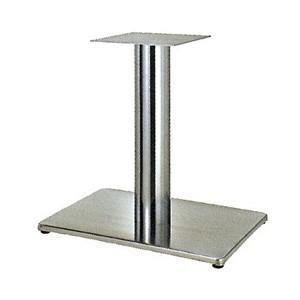 テーブル脚 ボンドS7550 ベース550x370 パイプ101.6φ 受座240x240 ステンレス AJ付 高さ700mmまで e-kanamono