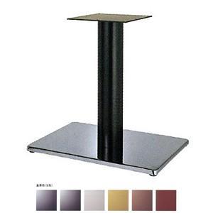 テーブル脚 ボンドS7550 ベース550x370 パイプ76.3φ 受座240x240 クローム/塗装パイプ AJ付 高さ700mmまで e-kanamono