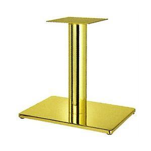 テーブル脚 ボンドS7550 ベース550x370 パイプ76.3φ 受座240x240 ゴールドメッキ AJ付 高さ700mmまで e-kanamono