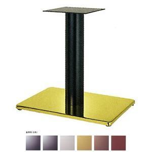 テーブル脚 ボンドS7550 ベース550x370 パイプ76.3φ 受座240x240 ゴールド/塗装パイプ AJ付 高さ700mmまで e-kanamono