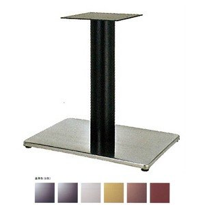 テーブル脚 ボンドS7550 ベース550x370 パイプ76.3φ 受座240x240 ステンレス/塗装パイプ AJ付 高さ700mmまで e-kanamono