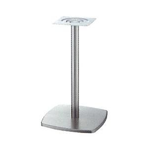 テーブル脚 クリーンS7400 ベース400x400 パイプ42.7φ 受座240x240 ニッケルサテン AJ付 高さ700mmまで e-kanamono