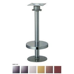 床面固定オートリターン式イス脚 リターン42 カバー220φ パイプ42.7φ 受座155x155(2/3回転式) 基準色塗装 高さ700mmまで|e-kanamono