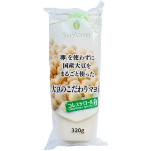 NEW 大豆のこだわりマヨネ 320g |ソイコム (2018.4/中旬〜大豆の産地変更)|e-kanekoya