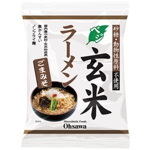 オーサワのベジ玄米ラーメン(ごまみそ) 119g(うち麺80...