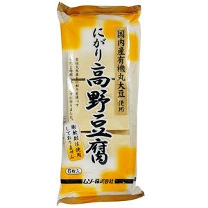 有機大豆使用にがり高野豆腐 6枚(99g)|ムソー|e-kanekoya