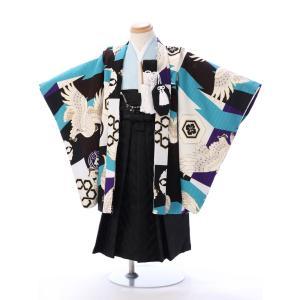 七五三レンタル 男児3才 瀬戸大也とのコラボによる3歳 羽織袴レンタルセット 人気のターコイズブルー...