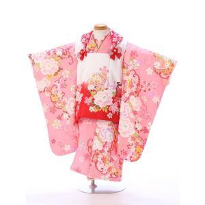 七五三 着物レンタル 3歳 ブランドkawaiina やっぱり可愛い!ピンクの被布セットです!   ...