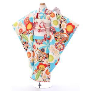 七五三レンタル 女児7才   JAPAN STYLE×瀬戸大也  風車紋をベースに格調ある梅文様でま...