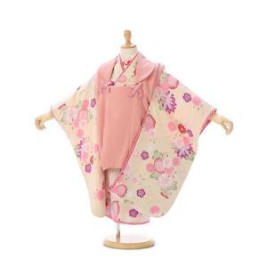 JAPAN STYLE 被布|七五三着物3歳 女の子(被布)フルセット(クリーム系)|女の子(三歳)...