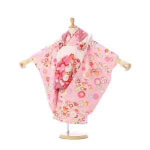 被布 絞り調 七五三着物3歳 女の子(被布)フルセット(ピンク系 ) 女の子(三歳)