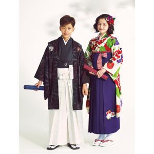 袴レンタル 小学校卒業式 男の子 12歳から13歳向け ジュニア 紋付き袴セット 卒業の晴れの日には...