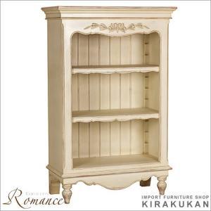 アンティーク オープン棚(3スパン) カントリーコーナー ロマンスコレクション 白家具|e-kirakukan