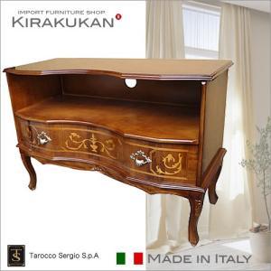 イタリア家具 Tarocco タロッコ アンティーク風 象嵌入り TV台 TVボード