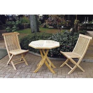 ガーデンファニチャー 折り畳みテーブルチェア3点セット...