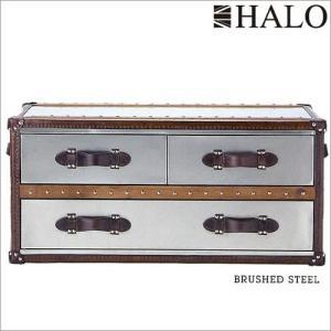 受注生産:HALO ハロ ストニーハーストスモールコーヒーテーブル(ブラッシュドスチール)|e-kirakukan