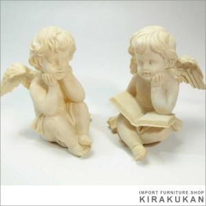 輸入雑貨 おすわりエンジェル 天使(2体セット)|e-kirakukan