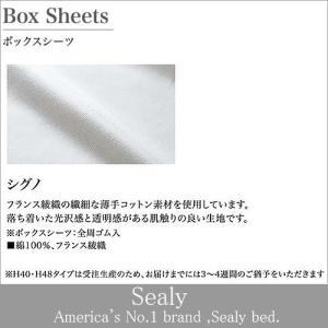 Sealy シーリーベッド ベッドアクセサリー シグノボックスシーツH48 セミダブル(SD)サイズ 受注生産 日本規格|e-kirakukan