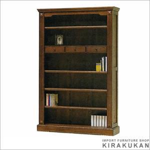 アンティーク ブックケース120(オープン) えぞ|e-kirakukan
