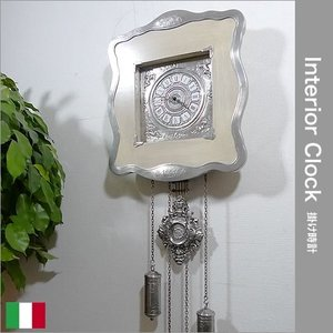 イタリア製 すず製 掛け時計(ホワイト) 0750565|e-kirakukan
