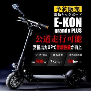電動キックボード 公道仕様 E-KON グランデプラス 保安部品標準装備 500W20A 予約販売