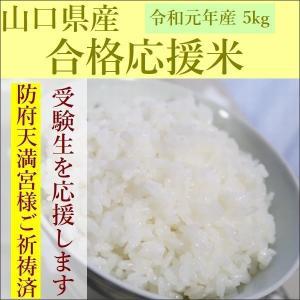 米 5kg 合格応援米 祈願米 受験生 応援 コシヒカリ 山口県産 30年産|e-koshihikari