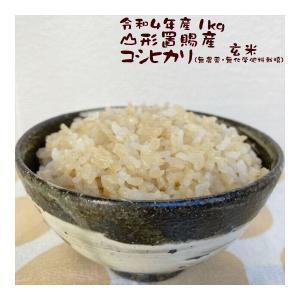 玄米 1kg こしひかり 山形県東置賜郡 高畠町産 30年産 e-koshihikari