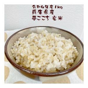 玄米 1kg 夢ごこち 1kg 兵庫県産 30年産 e-koshihikari