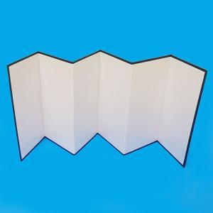 お絵描き 白い屏風 H20cm×六曲  【商品番号】 No.381  【商品説明】 好きなイラストを...