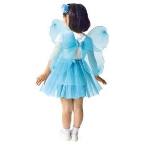 ファンシーなちょうちょの羽 水色 / 蝶々 はね