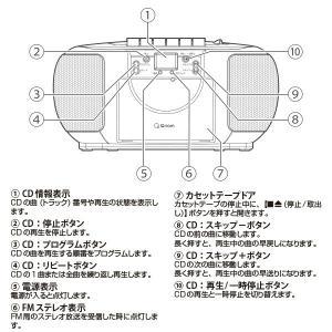 CDラジカセ (AM/FM・カセット・CD)A...の詳細画像3