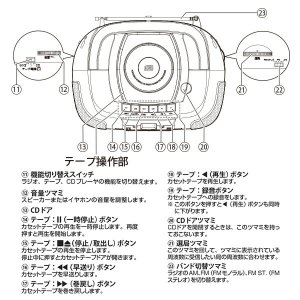 CDラジカセ (AM/FM・カセット・CD)A...の詳細画像4
