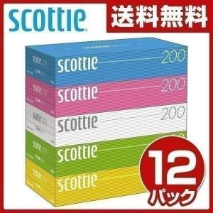 スコッティ (SCOTTIE) ティッシュペーパー 400枚(200組)5箱×12パック(60箱) 41745 ティシュペーパー まとめ買い ケース販売 日用品【あすつく】