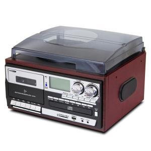 マルチオーディオレコーダー/プレーヤー リモコン付きレコード/CD/カセットテープ/FM・AMラジオ/SD/USB MA-89 オーディオレコーダー オーディオプレーヤー|e-kurashi
