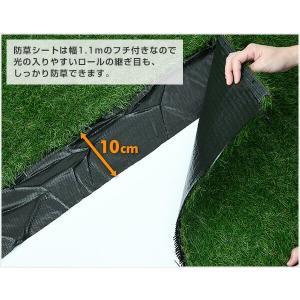 人工芝 芝生 ロール 1m×10m 芝生マット...の詳細画像3