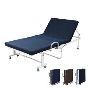 宮付き 低反発 折りたたみベッド シングル MHT-1S 折り畳みベッド 折畳みベッド シングルベッド ベット【あすつく】 e-kurashi