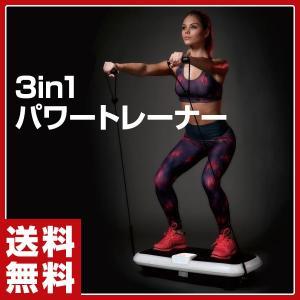 3in1 パワートレーナー TKS71HM015 エクササイズ ダイエット 運動 ぶるぶるマシーン 振動マシーン ぶるぶるマシン 振動マシン フィットネス【あすつく】|e-kurashi