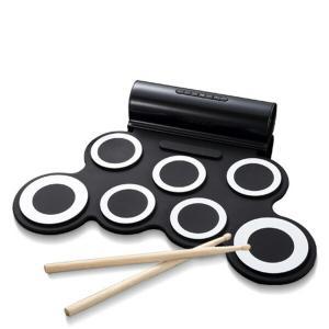 ロールアップドラム 電子ドラム (スピーカー内蔵)フットペダル/ドラムスティック付属 SMALY-D...