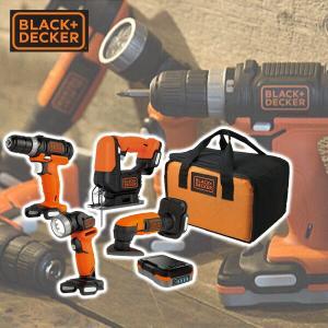 GoPak プロジェクトパック 5点セット (ドリルドライバー/ジグソー/サンダー/LEDライト/充電池) BDCK124S1S ドリルドライバー ジグソー サンダー【あすつく】|e-kurashi