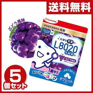チュチュベビー L8020乳酸菌タブレット (ぶどう風味)90粒入り×5個セット (学校歯科保健用品推薦) デンタルケア L8020 キシリトール 乳酸菌 チュチュベビー|e-kurashi