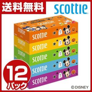 スコッティ ティッシュペーパー ディズニー 320枚(160組)5箱×12パック(60箱) 41228 ティシュー ティシュペーパー ティッシュボックス キャラクター【あすつく】|e-kurashi