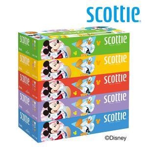 スコッティ ティッシュペーパー ディズニー 320枚(160組)5箱×12パック(60箱) 4129...