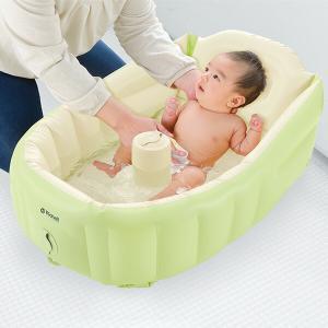 ふかふかベビーバス プラス 21603-3 赤ちゃん ベビー 沐浴 ベビーバス バス 風呂 空気風呂...