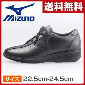 ウォーキングシューズ ウィメンズ サイズ22.5cm-24.5cm LA260 ブラック ウィメンズ 女性 シューズ 靴 スニーカー 軽い ヒール|e-kurashi