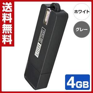USB ボイスレコーダー (4GB) 25日間仕掛け録音 VR-U25 ホワイト/グレー ボイスレコーダー 浮気調査 録音 USBメモリ しかけ録音|e-kurashi