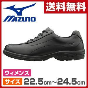 ウォーキングシューズ レディースサイズ22.5cm-24.5cm LD40  ブラック ウィメンズ 女性 シューズ 靴 スニーカー 軽い LD-40|e-kurashi