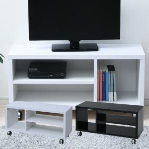 テレビ台 キャスター付き 幅80 おしゃれ SKTV-800 シンプル テレビボード 木製 コンパクト テレビボード リビング コーナーラック 32インチ|e-kurashi