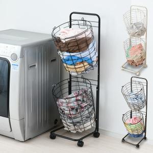【送料無料】 山善(YAMAZEN)   ランドリーラック 洗濯かご 2段 キャスター付き  ●本体...