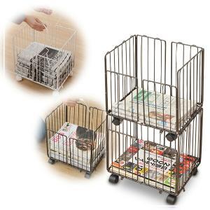 【送料無料】 山善(YAMAZEN)  新聞ストッカー2段  RSR-2C  ●本体サイズ:幅32×...